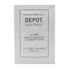 Depot 504 Cleansing Wipes Beard & Moustache Șervețele 12buc